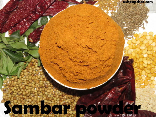 Usha Upchar » Sambar powder recipe